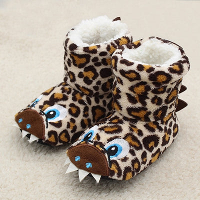Girls Boys Slippers Booties Cute Animal Soft Plush House Boots Socks 2-7 Years