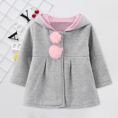Rabbit Ear Flower Decor Hoodies