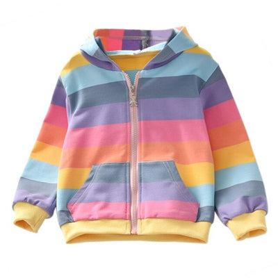 Rainbow Striped Jacket