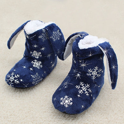 2-7 Year Old Kids Unisex Christmas Snowflake Slipper Shoes