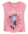 Vampirina Disney Toddler and Little Girls' Short Sleeve Shirt, 2T-6X, Pink, Purple, Black & Lilac