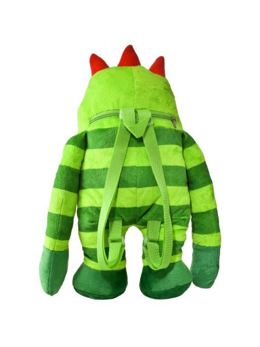 Yo Gabba Gabba Brobee Plush Backpack For Boys or Girls, Green