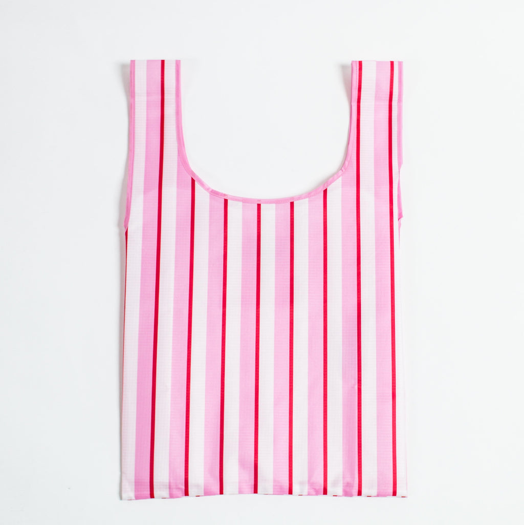 SaintX Shopper | Pink Stripes Canvas Tote Bag SAINTX STUDIO
