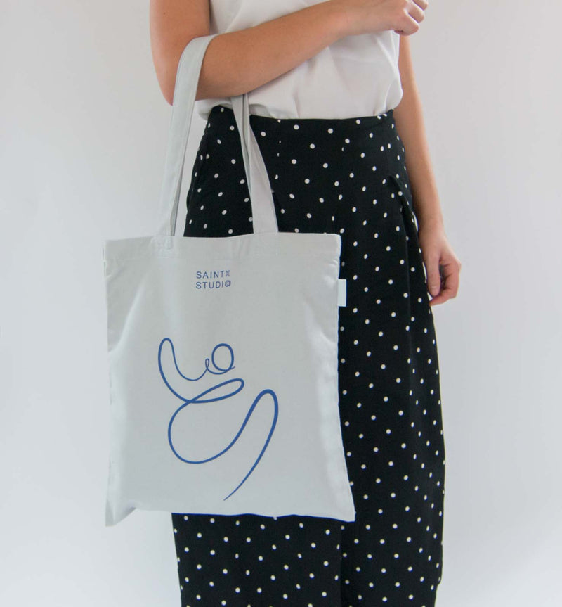 Carry Tote | One Line Lady Canvas Tote Bag SAINTX STUDIO
