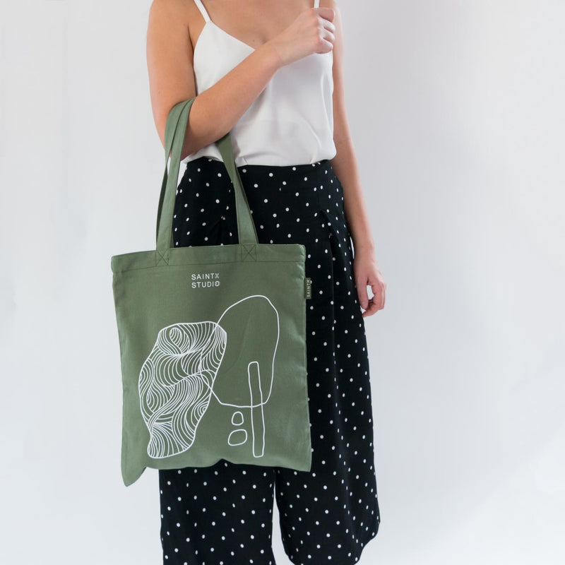 Carry Tote | Rockpool Canvas Tote Bag SAINTX STUDIO