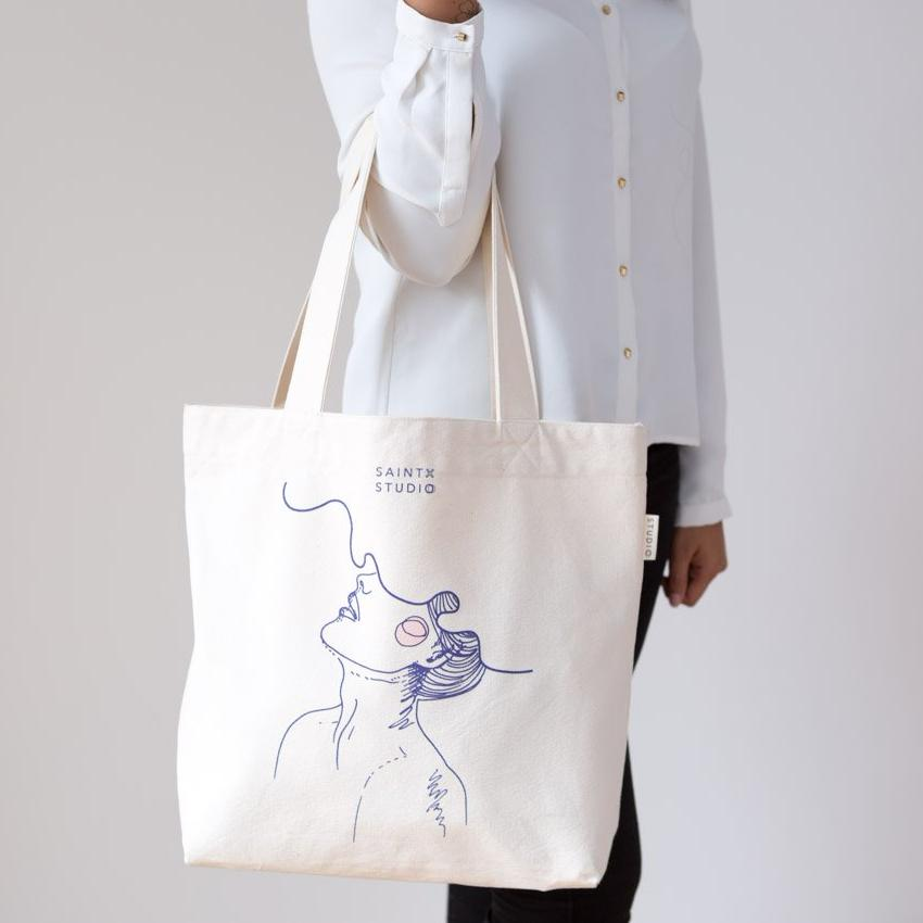 Market Tote | Daydreamer Canvas Tote Bag SAINTX STUDIO