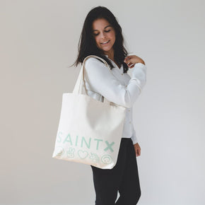 Market Tote | Icon Love Canvas Tote Bag SAINTX STUDIO
