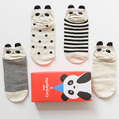 Christmas Gift Box - 4 Pairs of Panda Socks