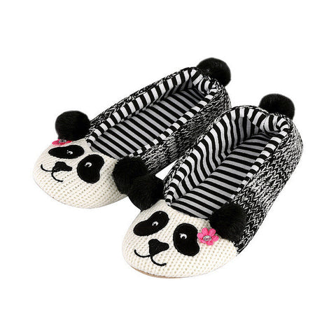 Emma Panda Plush Slippers
