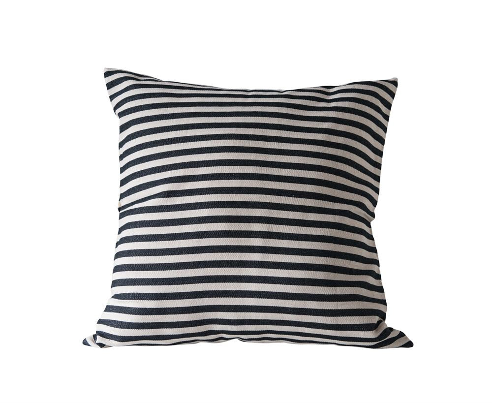 "26""  Black Striped Pillow"