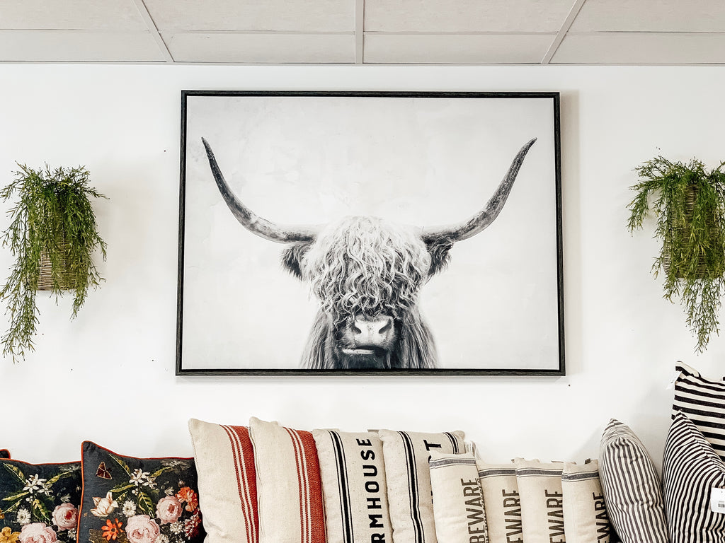 Highland Cow Wall Art Instore Pickup