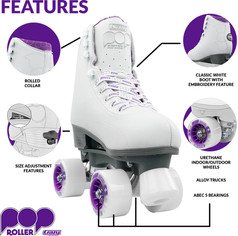 Crazy Pop Adjustable Size Kids Skates