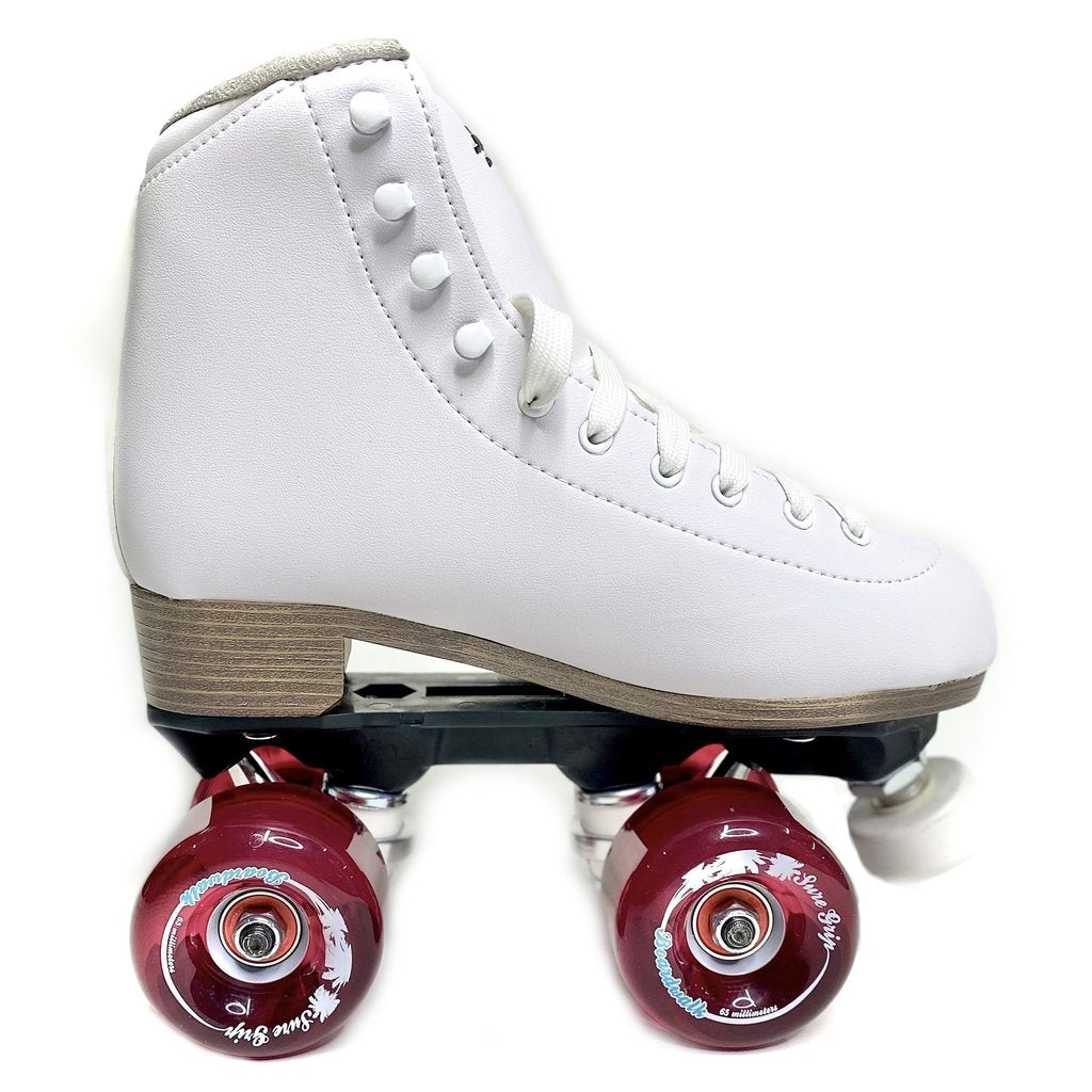 Sure-Grip Fame Outdoor Roller Skate in White