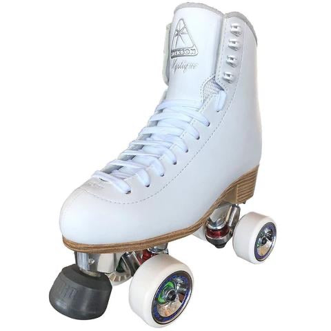 Atom Skates Jackson Mystique in White with Alloy plate Outdoor Package