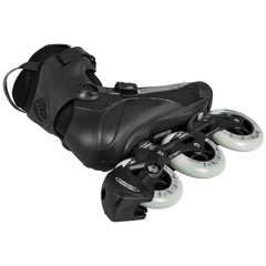 Powerslide Swell Lite Black 1OO Inline Skate view from the bottom side