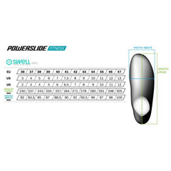 Powerslide Fitness Swell Men's Size Chart