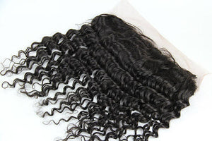 Virgin Brazilian Deep Curl Frontal 16""