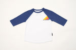 3/4 Sleeve Raglan with Navy Sleeves