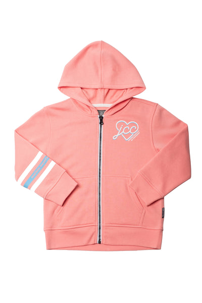 Zip-Up Hoodie in Pink