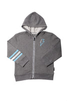 Zip-Up Hoodie in Gray