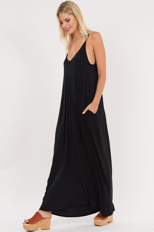 Harem Maxi Dress (Black)