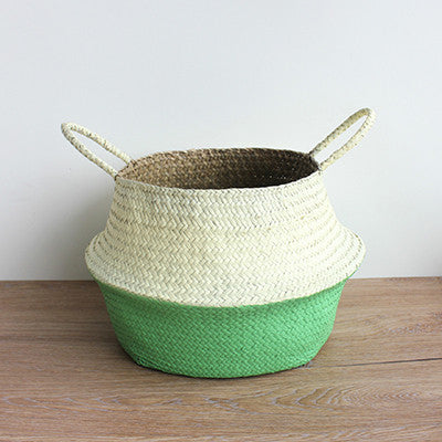 Wicker Straw Storage Basket