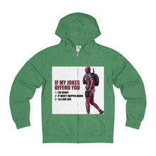 Beni par Dieu Adult Unisex French Terry Zip Hoodie Deadpool Jokes