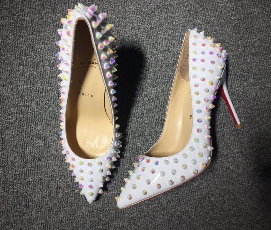 Christian Louboutin Whit Spike Heels
