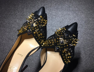 Christian Louboutin Black & Gold Heels