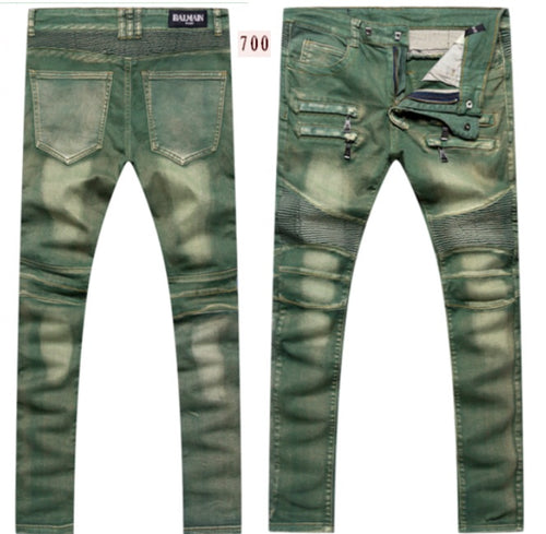Balmain Men Green Jeans