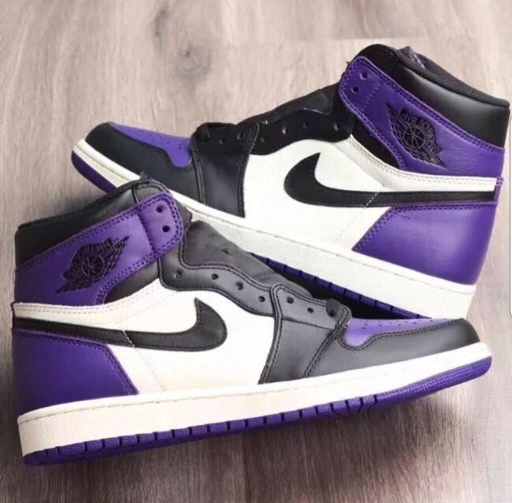 Nike Air Jordan Retro 1 I Court Purple/ Black