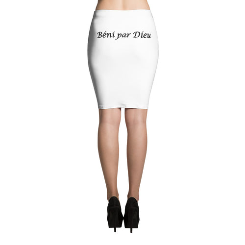 Beni par Dieu Pencil Skirt