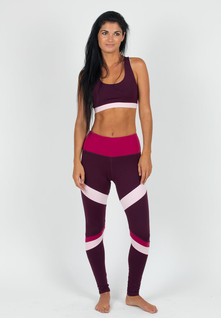 Plum yoga Panel Leggings