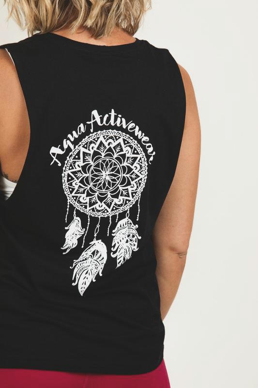 Dreamcatcher Black Muscle Tee