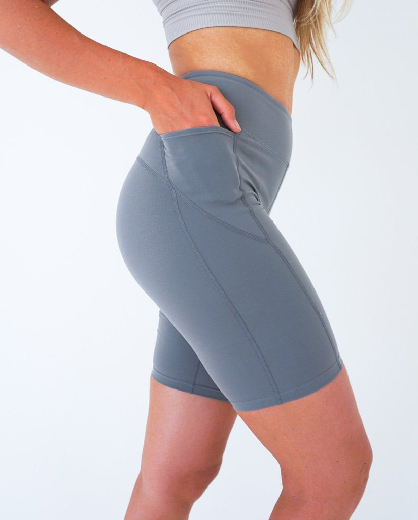 Grey Bikers Shorts