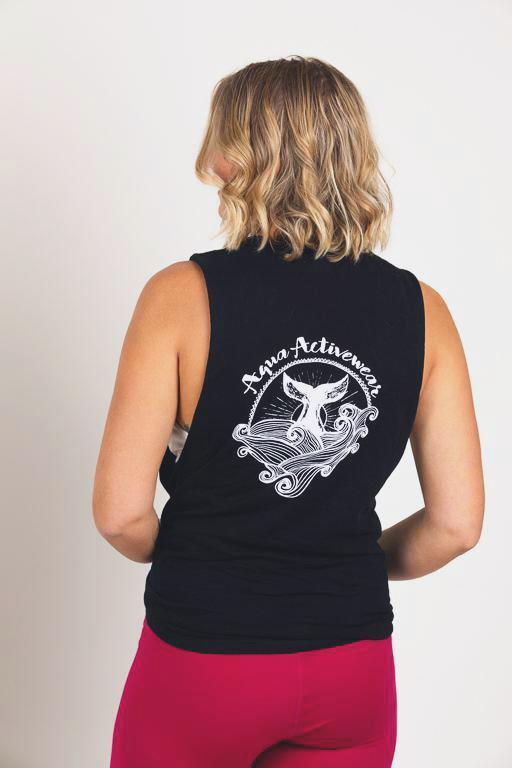 Whale's Tail Black Muscle Tee