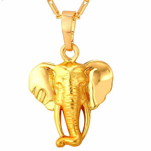 Elephant necklace gold color animal pendant for women and men elephant necklace gold color animal pendant for women and men aloadofball Image collections