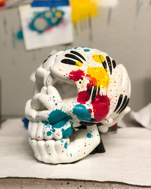 THE SLICK SKULL SCULPTURE: OG EDITION (HAND EMBELLISHED)