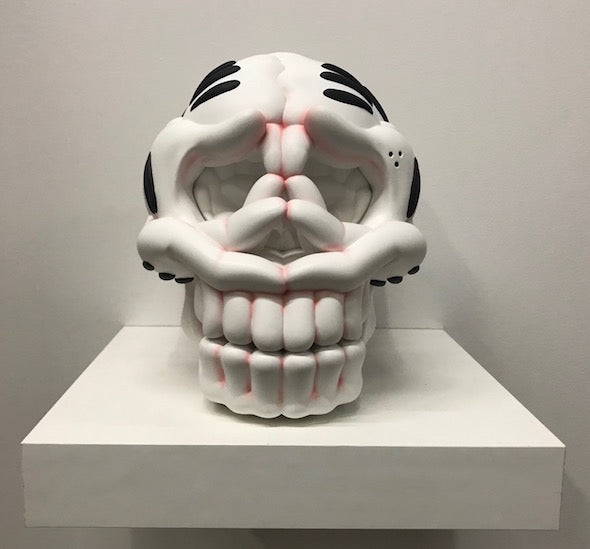 THE SLICK SKULL SCULPTURE: RED KNUCKLE EDITION
