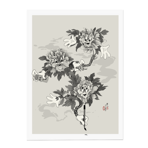 MY LIL PEONIES PRINT: MONOCHROME EDITION