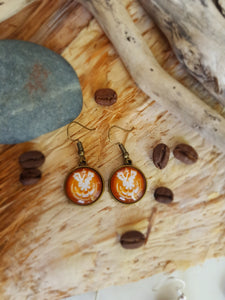 Latte art earrings (Australian order)