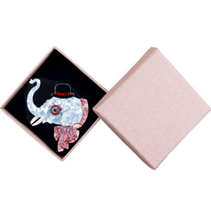 'Albert' Elephant Brooch