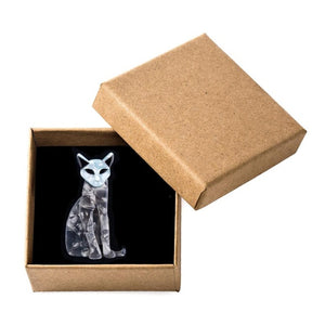 'Mr Whiskers' Cat Brooch