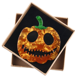 'Jack' Pumpkin Brooch