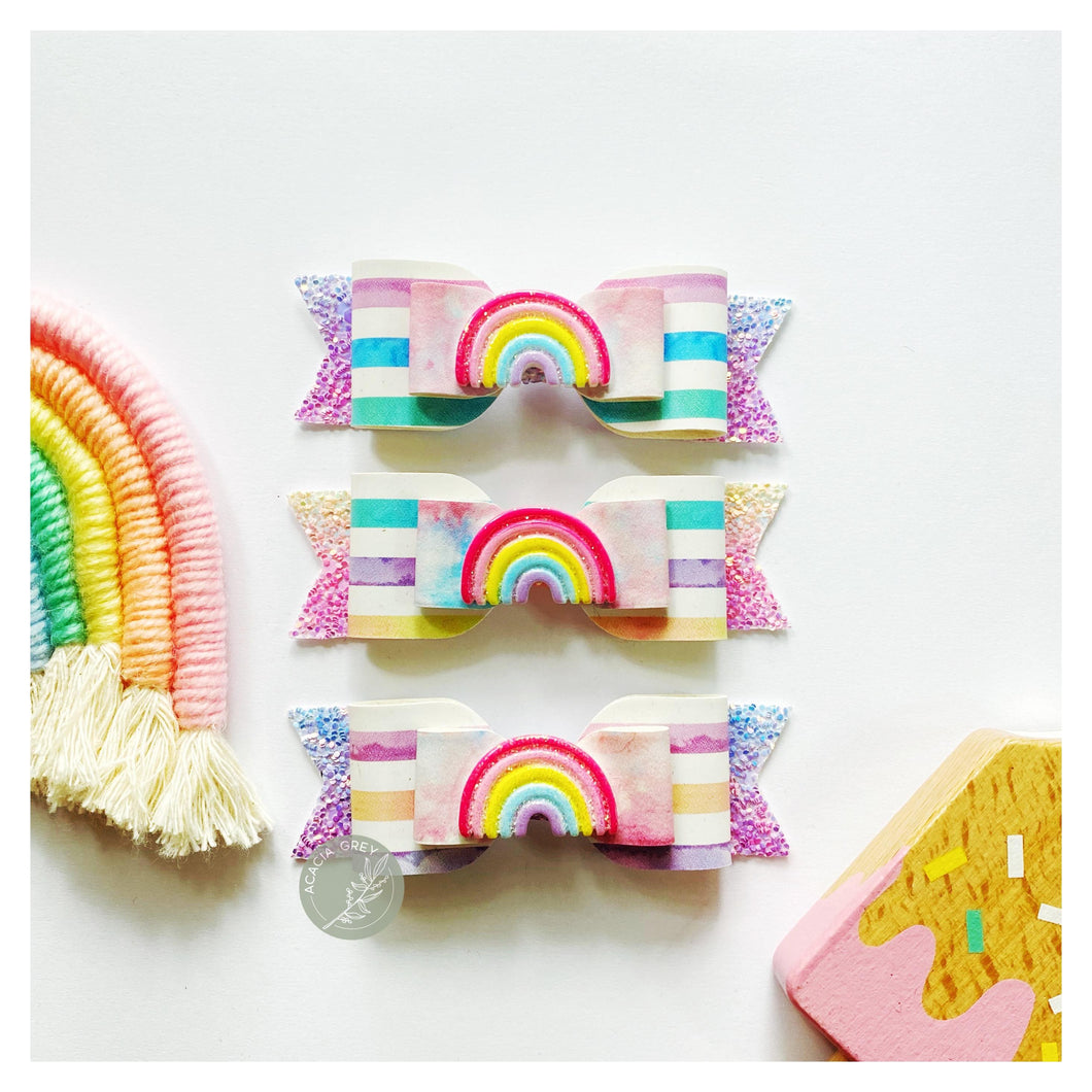 Stella Bow - 'Pastel Summer Rainbow'