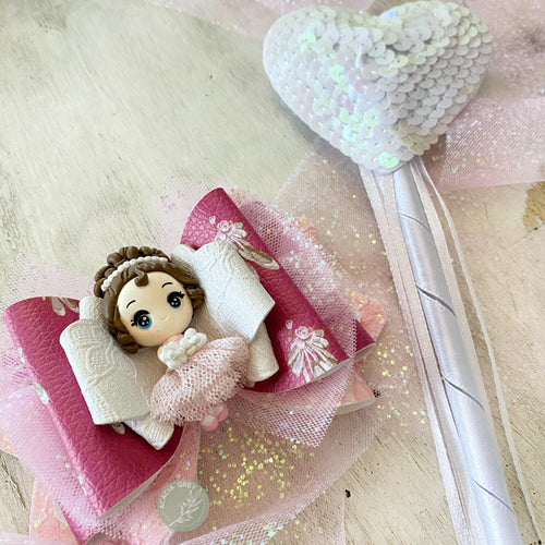 Handmade Clay Bow - 'Graceful Ballerina'
