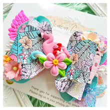'Let's Flamingle' Handmade Clay Bow