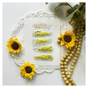 'Sprinkle of Sunflowers' Snap Clip Shaker Pair