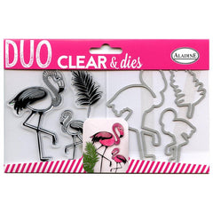 3 x Flamingo Pattern Universal Stamps Dies Set Cutting Machine Embossing Sizzix - Hobby & Crafts