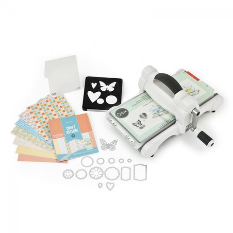 Sizzix Big Shot Embossing & Die-Cutting Machine Starter Kit - White & Grey - Hobby & Crafts